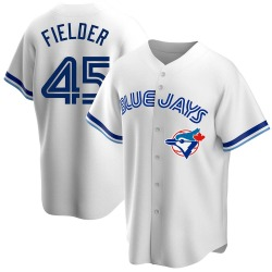 Cecil Fielder Youth Toronto Blue Jays White Replica Home Cooperstown Collection Jersey