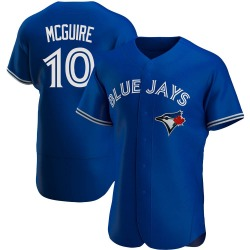 Reese McGuire Men's Toronto Blue Jays Royal Authentic Alternate Jersey