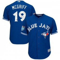 Fred Mcgriff Youth Toronto Blue Jays Royal Replica Cool Base 2018 Spring Training Jersey - Majestic