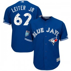 Mark Leiter Jr. Youth Toronto Blue Jays Royal Replica Cool Base 2018 Spring Training Jersey - Majestic