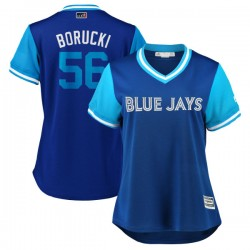 "Ryan Borucki Women's Toronto Blue Jays Light Blue Replica ""BORUCKI"" Royal/ 2018 Players' Weekend Cool Base Jersey - Majestic"